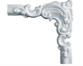 Angolo decorato in polistirene estruso IA709D per cornice I709 4x1,5 cm