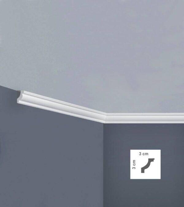 Cornice in polistirolo bovelacci per soffitto I702 3x3 cm lunghezza ml.2