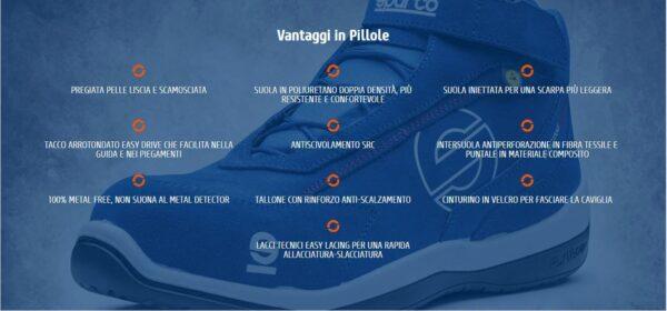 Scarpe antinfortunistiche s3 basse in pelle liscia e scamosciata sparco Racing EVO