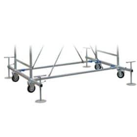 Base con ruote per trabattello SYSTEM 100 x 200 cm