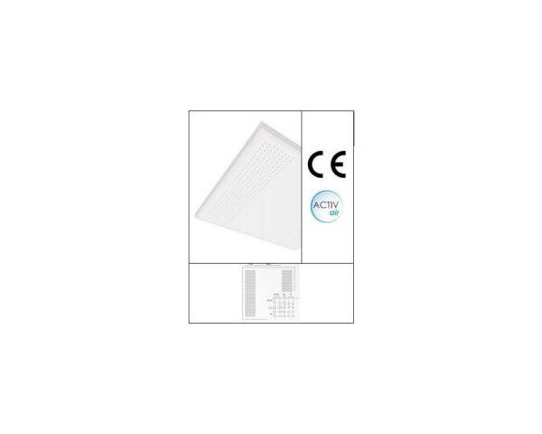 Pannello fonoassorbente in cartongesso 60x60 per controsoffitto con foratura rotonda regolare