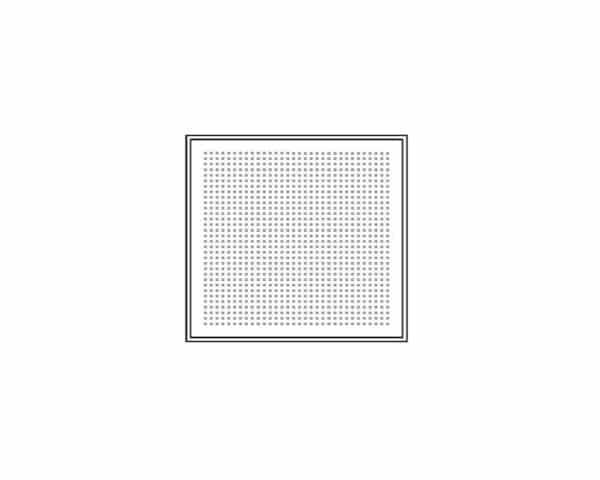 Pannello controsoffitto in lamiera foratura quadrata bordo ribassato Star Metal- Spessore 9mm- Dimension