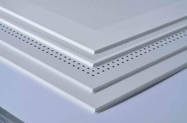 Pannello controsoffitto in lamiera foratura 40x40 bordo ribassato Star Metal- Spessore 9mm- Dimensioni 60x60cm- Conf.20pz