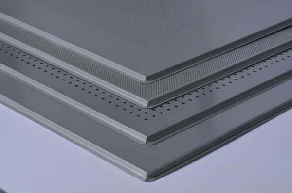 Pannello controsoffitto lay-in 24 per struttura in vista 24mm 60x60 in lamiera, non forato , bordo ribassato -Conf.mq 7,2