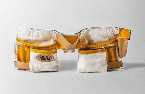 Cintura porta attrezzi posatore cartongesso in tessuto antistrappo con 10 comparti