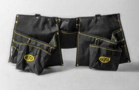 Cintura porta attrezzi posatore cartongesso in tessuto antistrappo con 12 comparti