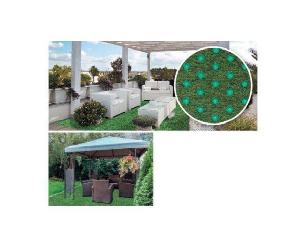Pavimento agugliato finta erba per esterno colore verde Europarati cricket