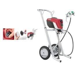 Pompa airless a bassa pressione con carrello 120 bar 230 Volt Titan ControMax 1900HR HEA