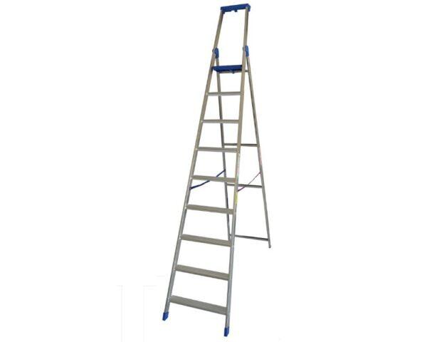 Scala doppia professionale 9 gradini altezza 3,15 metri Marchetti Climb Ev0 09