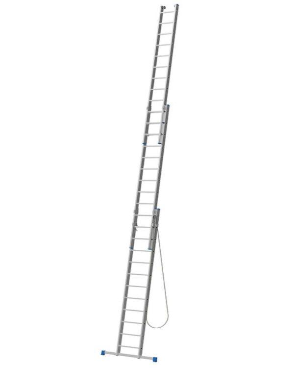 Scala sfilabile in alluminio a tre tronchi 12+12+12 pioli altezza 8,15 metri Marchetti Azzurra AC312