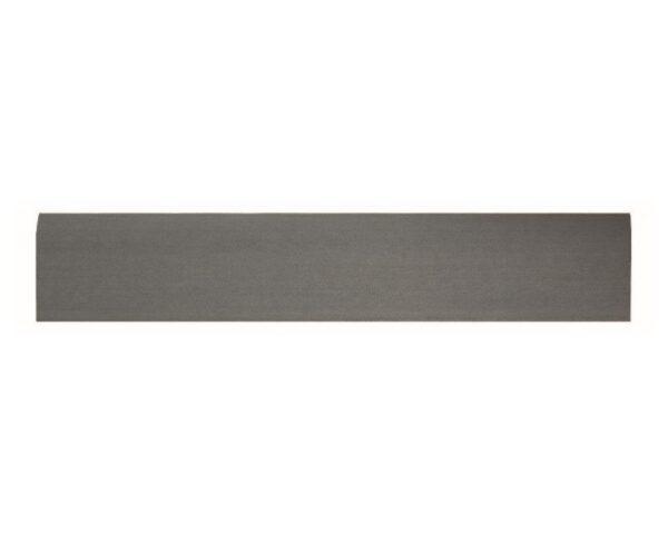 Battiscopa 75 x 9 mm in HIPS polistrutturato stile moderno liscio lunghezza 2 metri grigio scuro