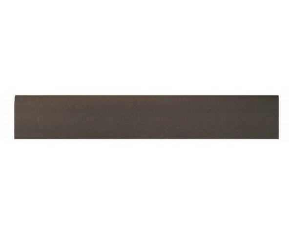 Battiscopa 75 x 9 mm in HIPS polistrutturato stile moderno liscio lunghezza 2 metri noce