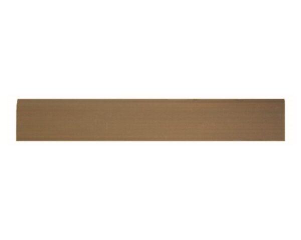 Battiscopa 75 x 9 mm in HIPS polistrutturato stile moderno liscio lunghezza 2 metri rovere