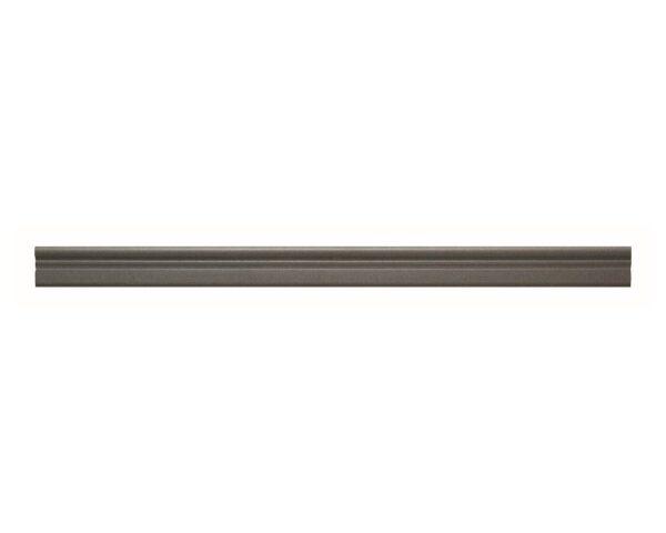 Profilo in polistrutturato stile liscio classico Bovelacci PP23 - Vari colori- 23x6 mm- 2 metri lineari grigio scuro