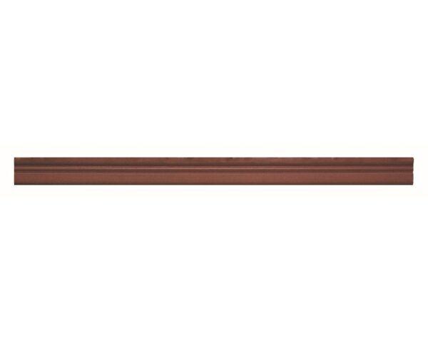 Profilo in polistrutturato stile liscio classico Bovelacci PP23 - Vari colori- 23x6 mm- 2 metri lineari mogano