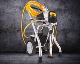Macchina spruzzatrice airless con carrello per pitture a base acqua o solvente alta portata Wagner Power Painter 90