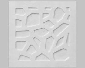 """Pannello decorativo in gesso 50 x 50 cm PR Group """"Spider""""- Conf. 2 Pannelli + kit installazione"""