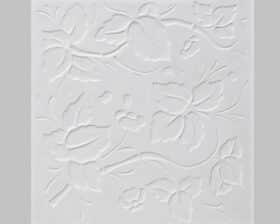 """Pannello decorativo in gesso 50 x 50 cm PR Group """"Green""""- Conf. 2 Pannelli + kit installazione"""