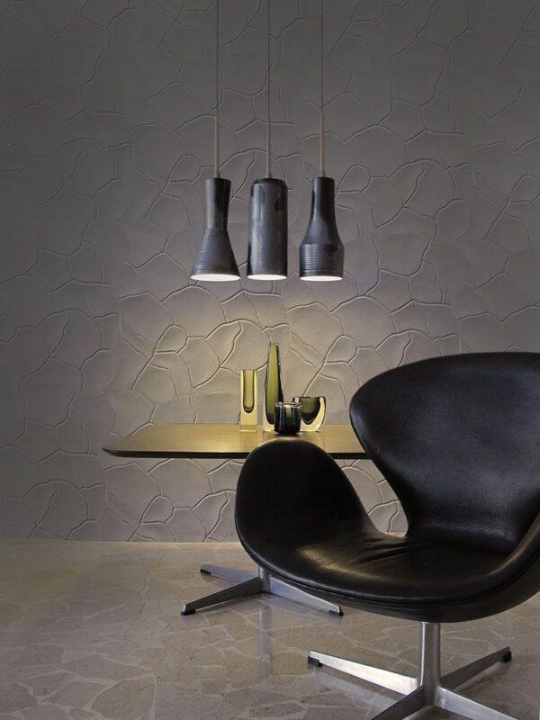 """Pannello decorativo in gesso 50 x 50 cm PR Group """"Shaara""""- Conf. 2 Pannelli + kit installazione"""