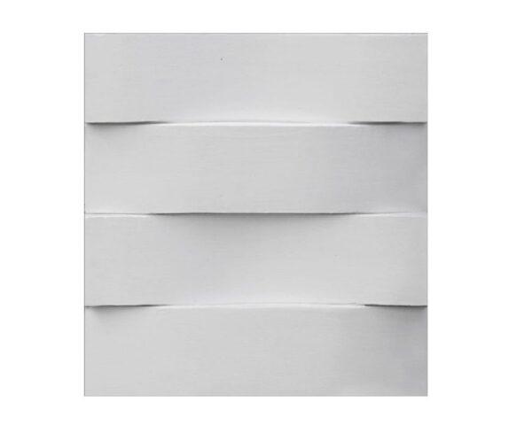 """Pannello decorativo retroilluminato in gesso 50 x 50 cm PR Group """"Tape Lh"""" + kit installazione"""