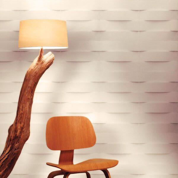 """Ambientazione Pannello decorativo retroilluminato in gesso 50 x 50 cm PR Group """"Tape Lh"""""""