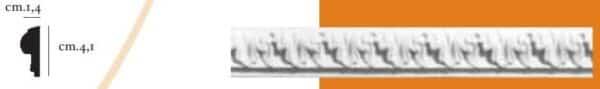 Cornice decorativa in gesso per pareti e soffitti 1,4 x 4,1 cm PR Group Artegesso Art.20