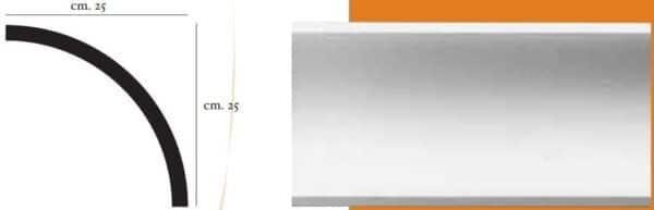 Angolo a luce diffusa in gesso per cornici 25 x 25 cm PR Group Artegesso Art.75