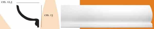 Angolo a luce diffusa in gesso per pareti e soffitti 12.5 x 13 cm PR Group Artegesso Art. 110