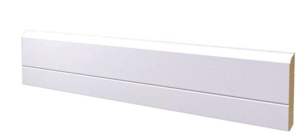 Battiscopa in legno ayous laccato bianco 130x15 mm lunghezza 2 metri Toscan Stucchi Art.655