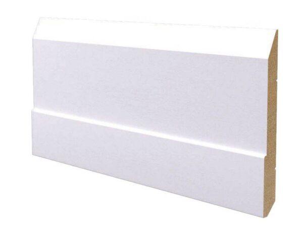 Battiscopa in legno ayous laccato bianco 140x15 mm lunghezza 2 metri Toscan Stucchi Art.653