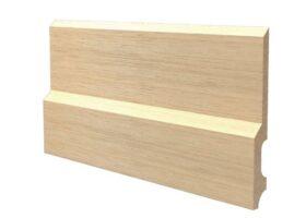 Battiscopa in legno ayous grezzo 150x18 mm lunghezza 2 metri Toscan Stucchi Art.636