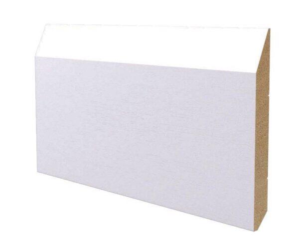 Battiscopa in legno ayous laccato bianco 160x18 mm lunghezza 2 metri Toscan Stucchi Art.651