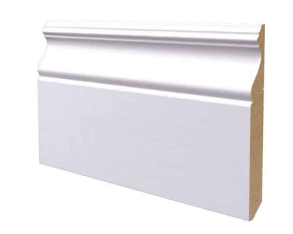 Battiscopa in legno ayus laccato bianco 160x18 mm lunghezza 2 metri Toscan Stucchi Art.620