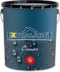 Guaina liquida impermeabilizzante bituminosa all'acqua per tutti i supporti Cimar Extralarge