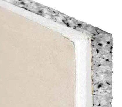 Lastra di cartongesso accoppiata a fiocchi di poliuretano per isolamento termo acustico Aemix Wall