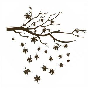 Sticker albero con foglie per pareti in vinile nero 35x50 cm Decorama - conf. 2 pz