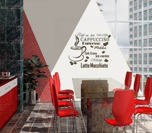 Sticker cappuccino per pareti in vinile marrone 35x50 cm Decorama - conf. 2 pz