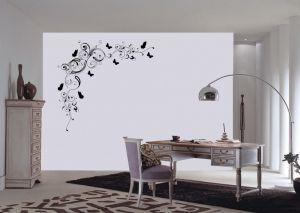 Sticker con farfalle per pareti in vinile nero 110x110cm Decorama - conf. 2 pz