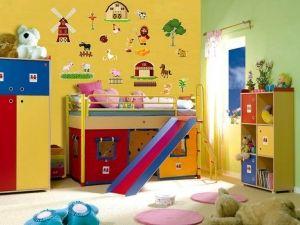 Sticker per pareti con fattoria per bambini in vinile Decorama