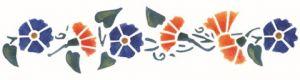 Stencil con fiori per pareti misura 13x40 cm Decorama -conf. 3pz