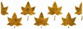 Stencil con foglie per pareti misura 13x40 cm Decorama -conf. 3pz