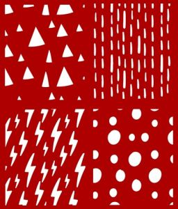 Stencil elettrostatico meteo per pareti misura 25x30 cm Decorama -conf. 3pz