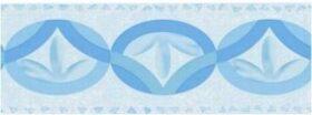 Bordo adesivo loto azzurro in pvc per muri e pareti misura 10,6 cm x 10 m Decorama