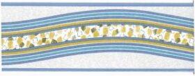 Bordo adesivo cairo azzurro in pvc per muri e pareti misura 10,6 cm x 10 m Decorama