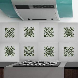 Stickers in vinile nero per tutte le superfici 10x10 cm Decorama Sticky-Tile - 6pz