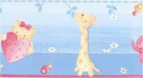 """Bordo adesivo """"Giraffa Azzurro"""" per bambini 15,9 cm x 10 m Decorama"""