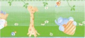 """Bordo adesivo """"Giraffa Verde"""" per bambini 15,9 cm x 10 m Decorama"""