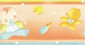 """Bordo adesivo """"Bebè Ocra"""" per bambini 15.9 cm x 10 m Decorama"""