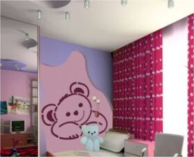 "Maxi stencil ""Little Bear"" per tutte le superfici 140 x 100 cm Decorama"