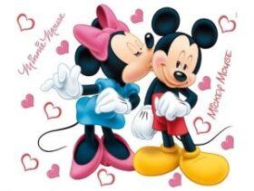 """Maxi sticker XXL da parete per bambini """"Minnie & Mickey"""" 72 x 61 cm Decorama"""